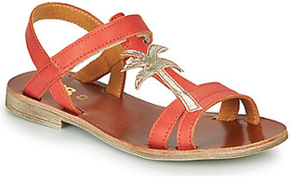 GBB SAPELA girls's Sandals in Red