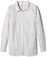 Zizzi Women's Regular Fit Long Sleeve Shirt - Multicoloured -