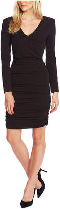 Vince Camuto Ruched Faux-Wrap Dress