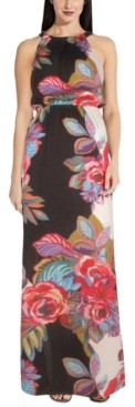 Adrianna Papell Floral-Print Maxi Dress