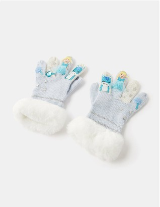 Monsoon Girls Frosted Princess Novelty Gloves - Blue