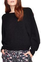 Miss Selfridge Slouchy Ribbed Crewneck Sweater