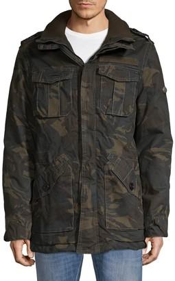 Jet Lag Camo-Print Long-Sleeve Jacket