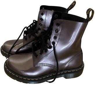 Dr. Martens Metallic Leather Boots