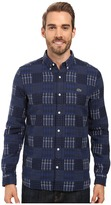 Lacoste L!ve Long Sleeve Multi Pattern Flannel Shirt