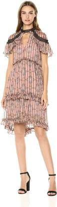 Elliatt Women's Apparel Women's MATINEE Tiered Ruffle Short Sleeve Floral Dress