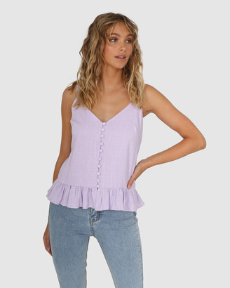 Lost in Lunar - Women's Sleeveless Tops - Elsa Cami - Size One Size, 6 at The Iconic