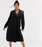 Unique21 Hero long sleeve sequin lapel tailored blazer dress