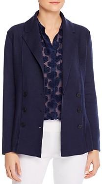 Nic+Zoe Petites Double-Breasted Knit Blazer