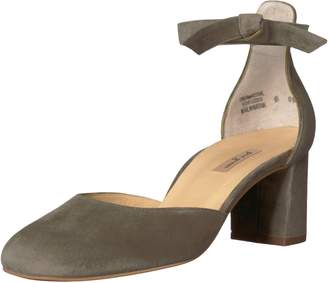 Paul Green Women's Susan Heel Heeled Sandal Olive Suede 8 M US