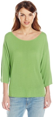 Colourworks Colour Works Women's 3/4 Sleeve High Low Pullover Sweater