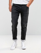 Jack & Jones Intelligence Regular Fit Jeans In Treated Black Denim
