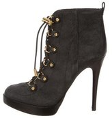Tory Burch Halima Lace-Up Ankle Boots
