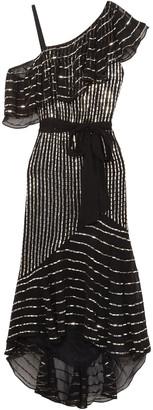 Temperley London Mosaico Off-the-shoulder Embellished Chiffon Midi Dress