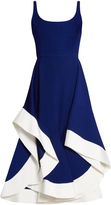 Esteban Cortazar Scoop-neck jersey midi dress