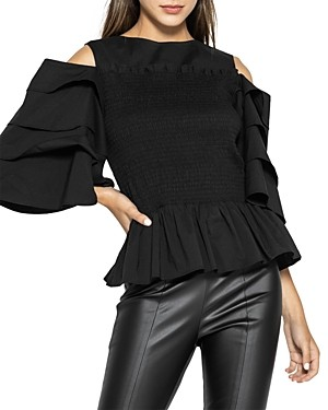 Gracia Ruched Cold Shoulder Top (49% off) - Comparable value $98
