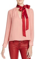 Alice + Olivia Silk Tie Neck Top - 100% Bloomingdale's Exclusive