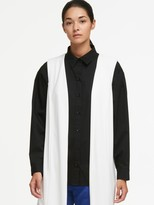 DKNY Long Vest With Sheer Back