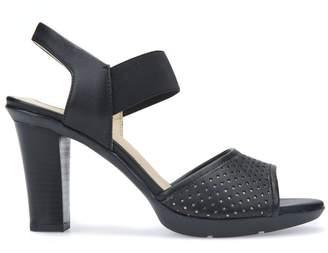 Geox D Jadalis C High Heeled Leather Sandals