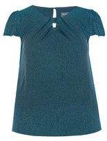 Dorothy Perkins Womens **Billie & Blossom Curve Teal Shell Top