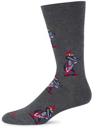 Marcoliani Milano Crocodile Rock Pima Cotton Dress Socks
