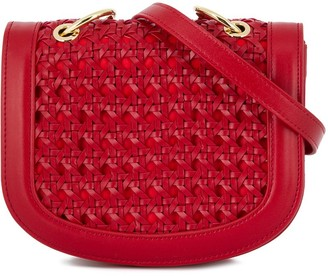 Stella McCartney Woven Flap Shoulder Bag