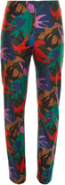 Sonia Rykiel Swallow camouflage-print cotton-poplin trousers