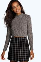 boohoo Megan Turtle Neck Long Sleeve Crop Jumper