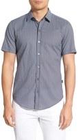 BOSS Sharp Fit Short Sleeve Geo Print Sport Shirt