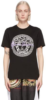 Versace Black Medusa Motif T-Shirt