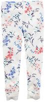 Carter's Floral Lace-Trimmed Leggings