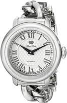 Glam Rock Women's GR77036 Bal Harbour Silver Stainless steel Band Watch.