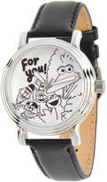 Sesame Street Womens Black Strap Watch-Wss000010