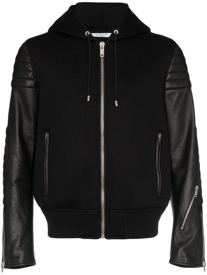 Givenchy Hooded lambskin leather jacket