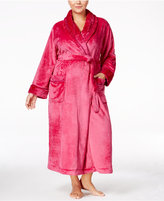 Charter Club Plus Size Super Soft Texture-Trimmed Long Robe, Only at Macy's
