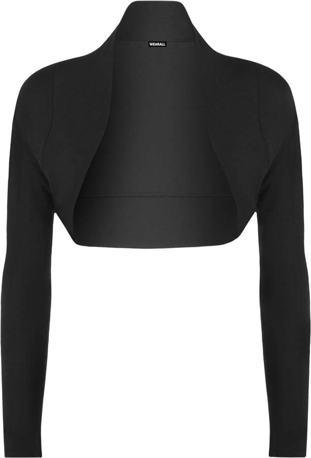 WearAll Women's Long Sleeve Shrug Ladies Bolero Top Women's