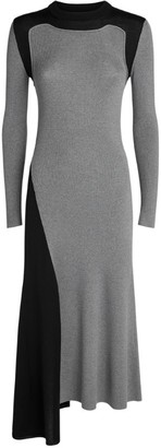 Alexander McQueen Wool Asymmetric Midi Dress