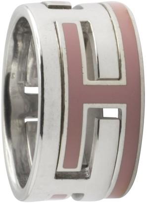 Hermã ̈S HermAs Petit H Pink Silver Rings