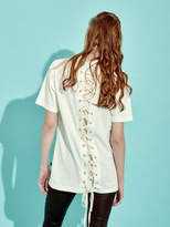 [Unisex] Back Lace-Up T-Shirts (WH)