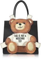 Moschino Teddy Bear Saffiano Leather Tote Bag