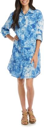 Karen Kane Tie Dye Linen Shirtdress
