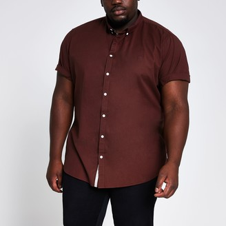 River Island Mens Big and Tall Red Maison Riviera Oxford shirt