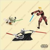 2006 Hallmark Keepsake Star Wars Asajj Ventress, Anakin Skywalker, and Yoda Ornament