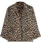 Equipment + Kate Moss Lake Leopard-Print Washed-Silk Pajama Shirt