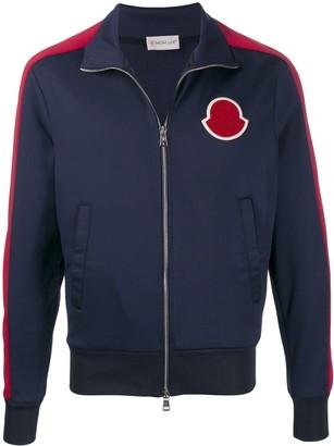 Moncler Logo Patch Zip-Up Jacket