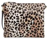 Clare Vivier Leopard Print Genuine Calf Hair Crossbody Bag - Green