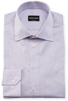 Giorgio Armani Shadow-Stripe Long-Sleeve Dress Shirt
