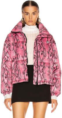 MSGM Snake Print Jacket in Fuchsia | FWRD