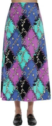 Gucci Printed Cotton Blend Skirt