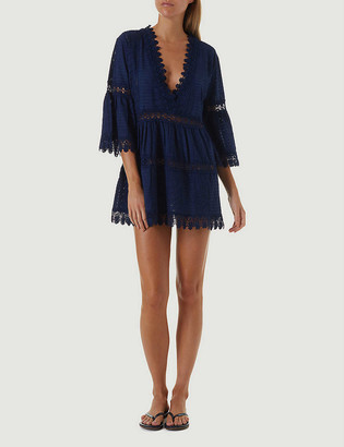 Melissa Odabash Victoria Broderie Anglais cotton mini dress